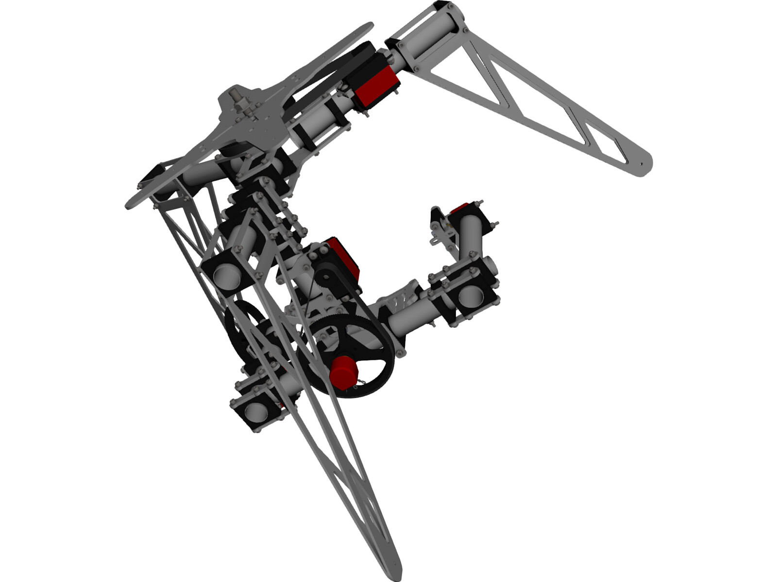 Camera Gimbal 3 Axis 3D CAD Model