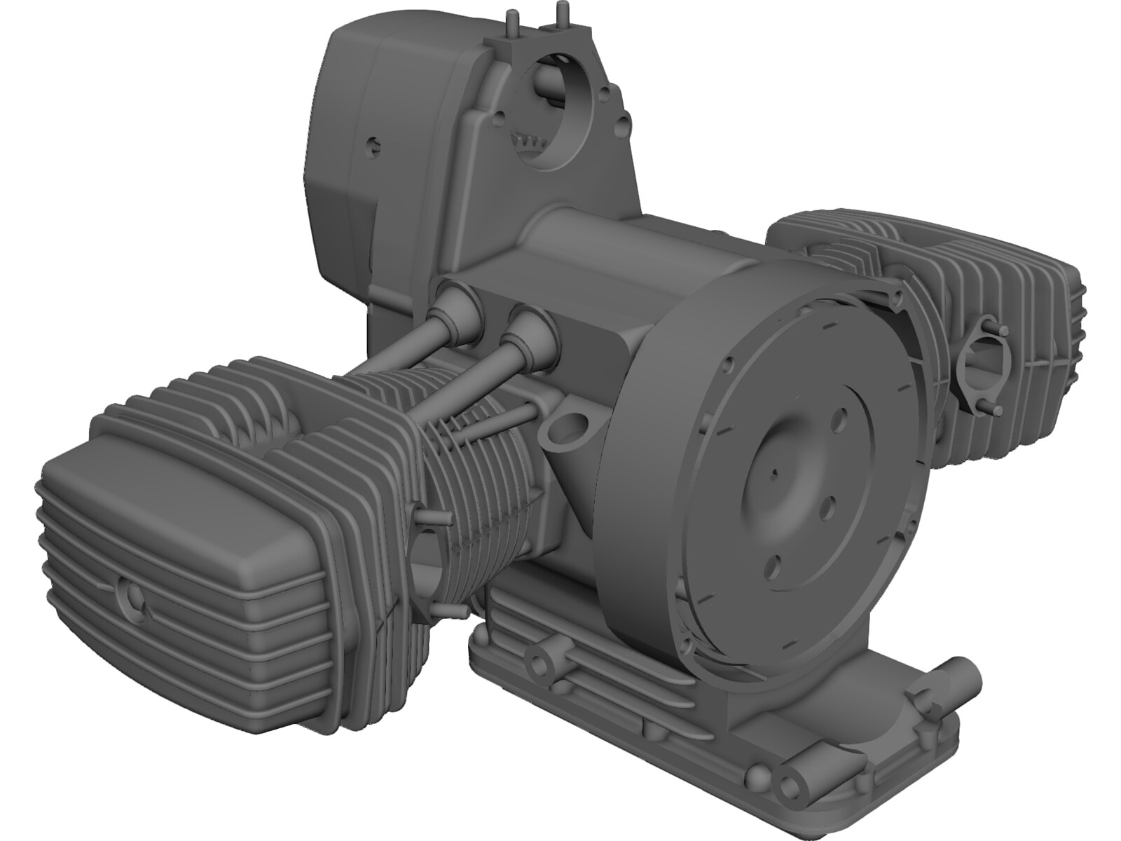 Dnepr Motorcycle Engine 3D Model