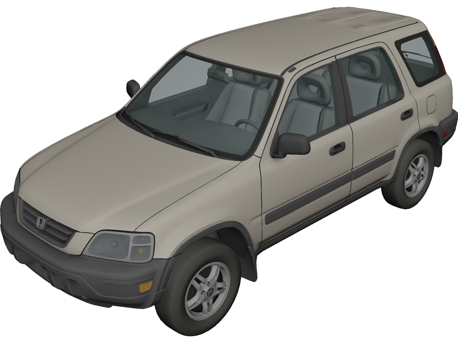 Honda Cr V 2001 3d Model 3d Cad Browser