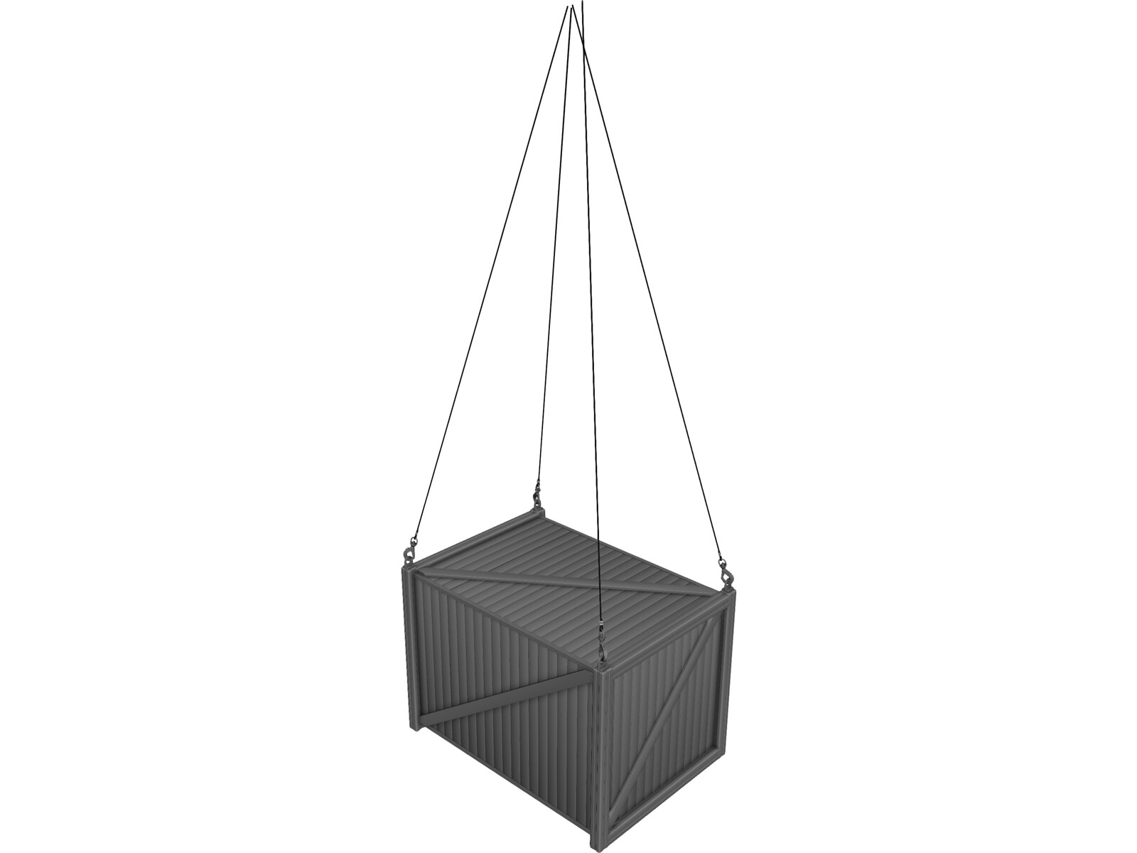Container with Hooks 3D Model