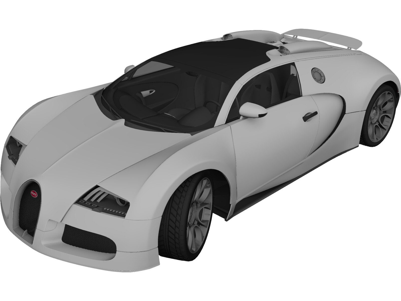 Bugatti Veyron Grand Sport (2010) 3D Model