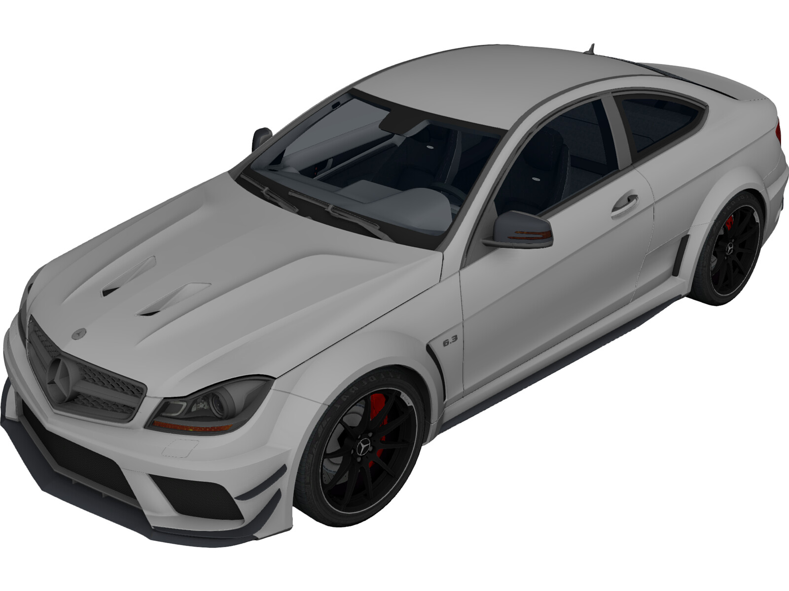 Mercedes-Benz C63 AMG Coupe 3D Model