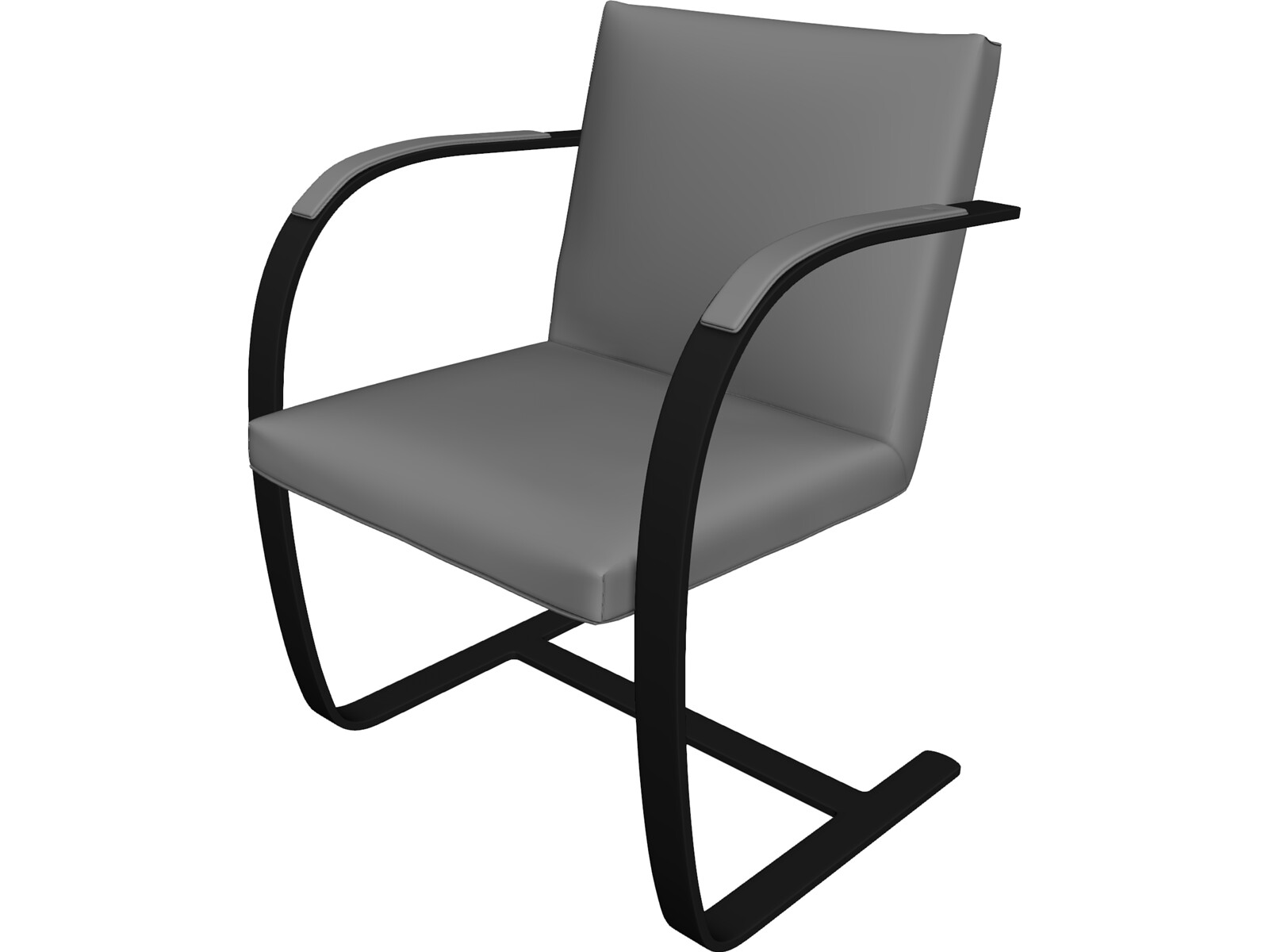 Brno chair 3d model 3d cad browser for Chair 3d model maya