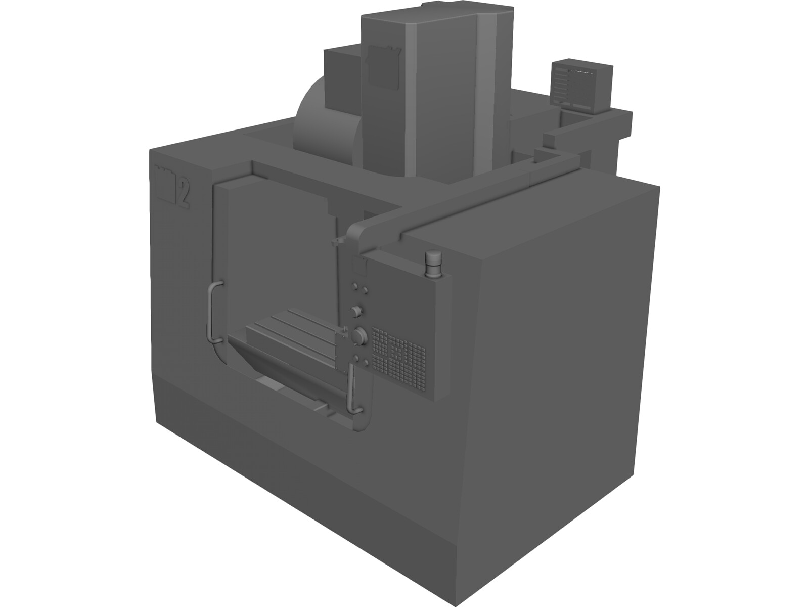 Haas VF-2 CNC Rotary Mill 3D CAD Model