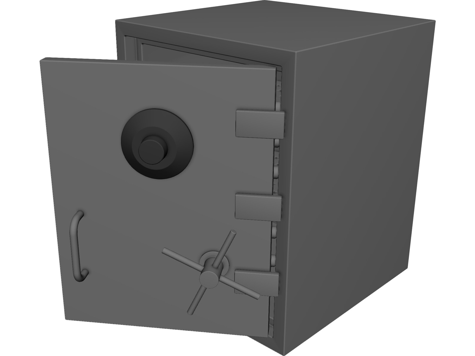 Heavy Duty Combination Safe 3D Model