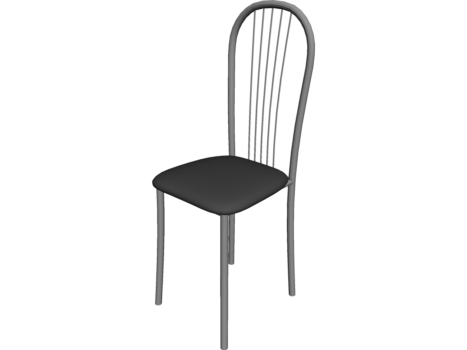 Incroyable Metal Kitchen Chair 3D Model