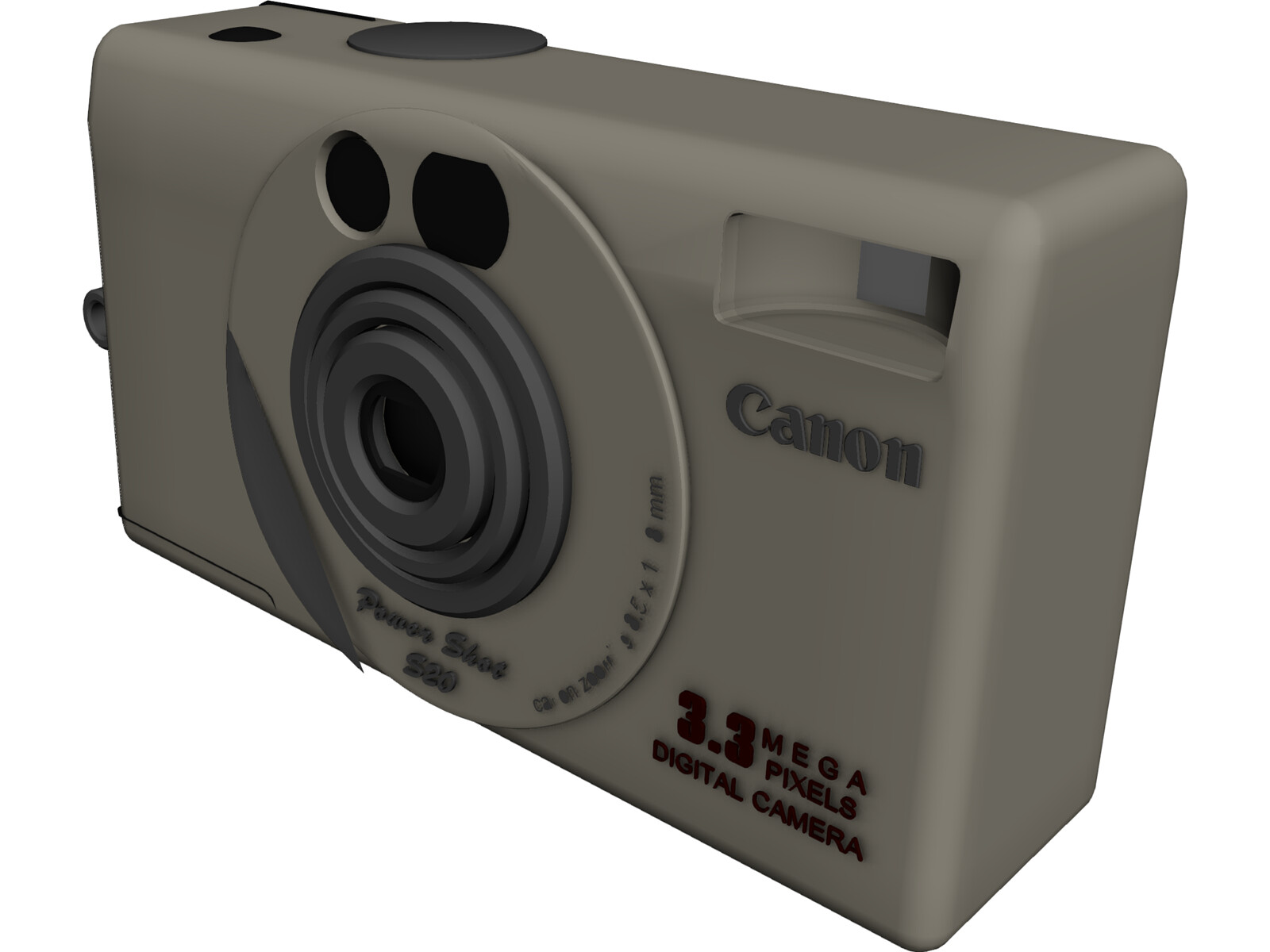 Canon PowerShot S20 Digital Camera 3D Model