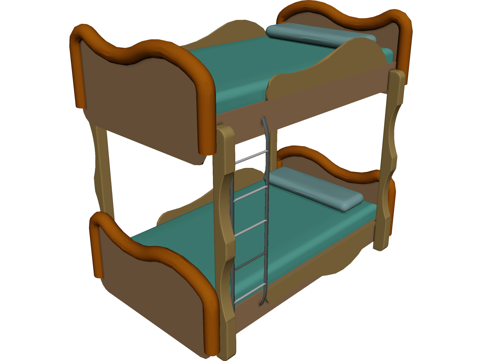 Kids Bedroom 3d Model bunk bed 3d model - 3d cad browser