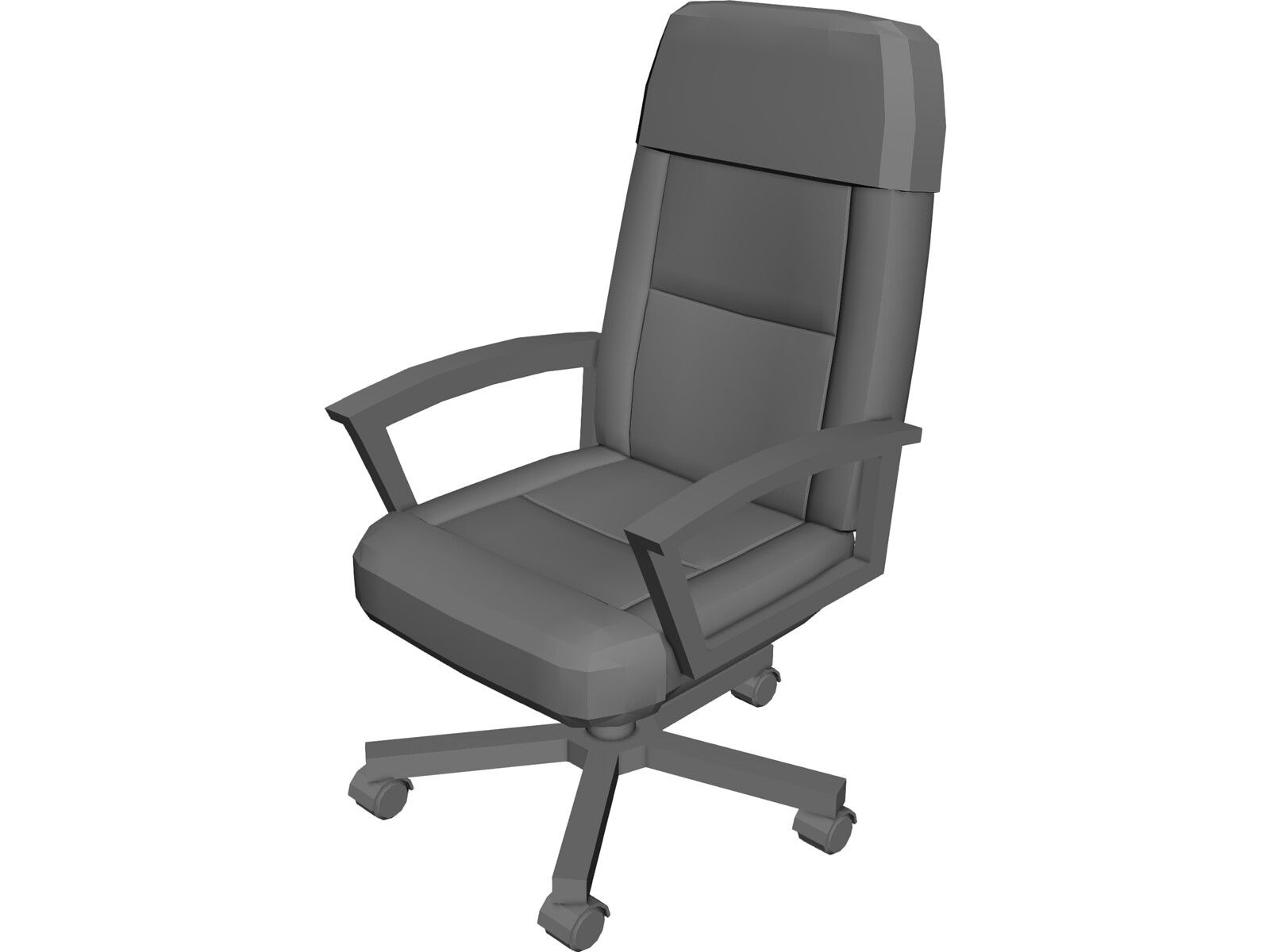 Office chair 3d model 3d cad browser for Chair 3d model maya