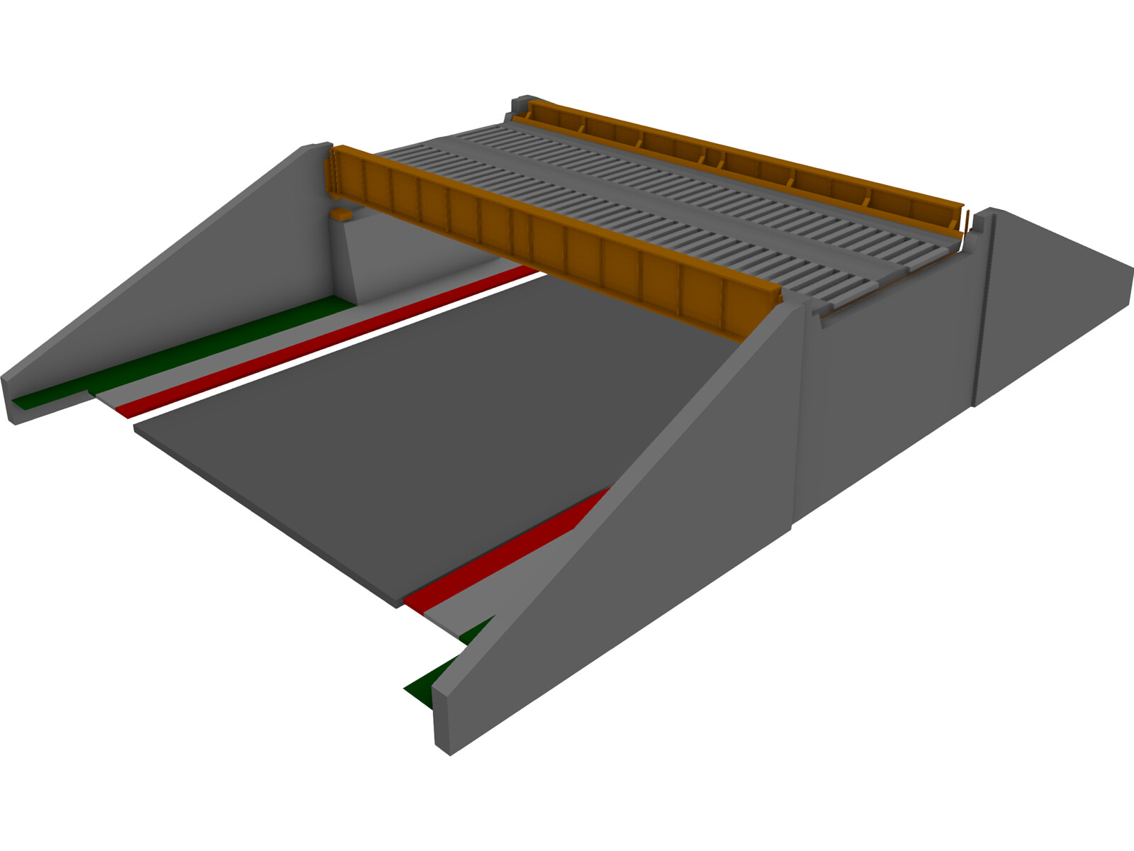 Thru Plate Girder Bridge 3D Model