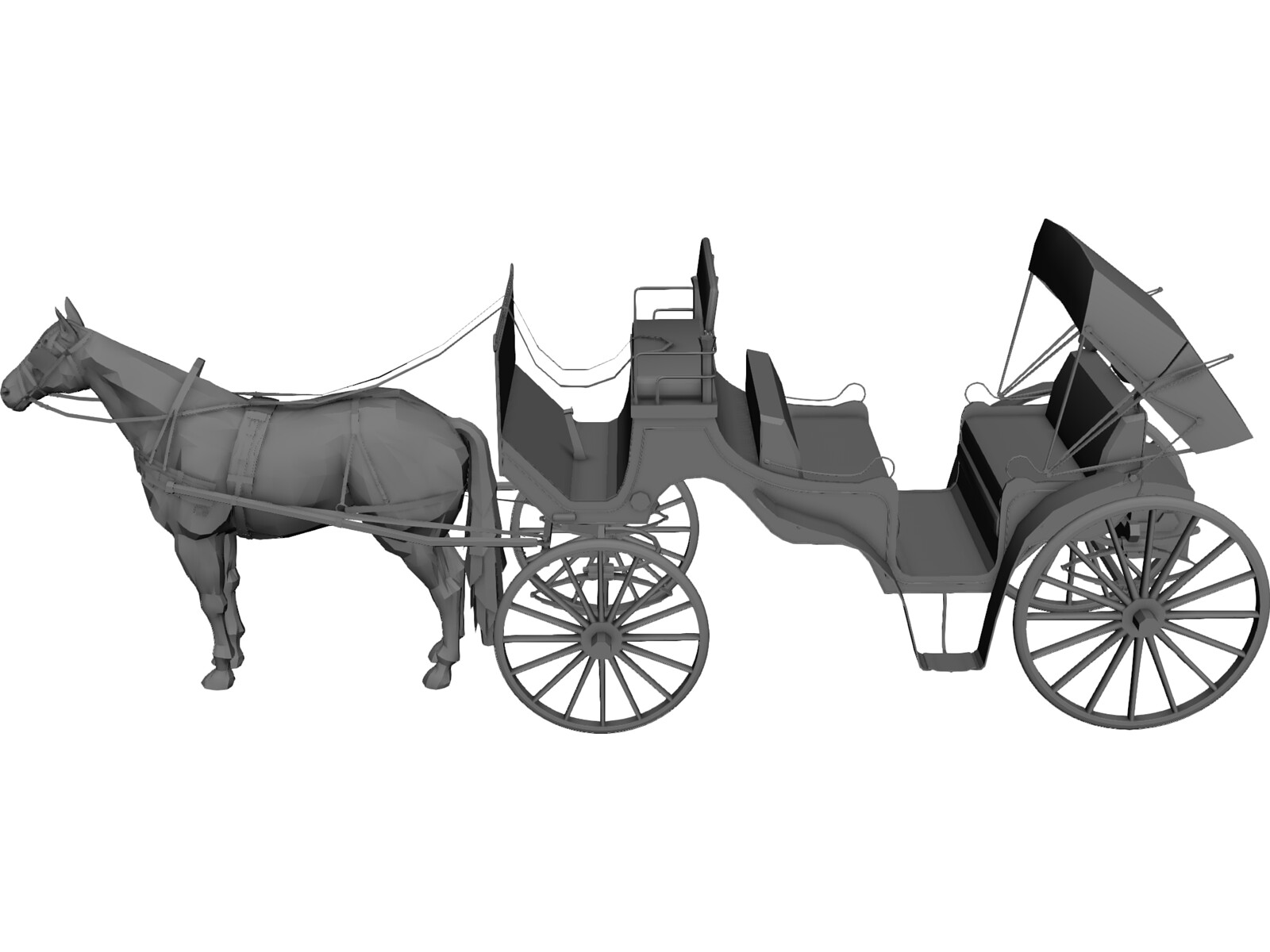 Old Style Horse Carriage 3d Model 3d Cad Browser
