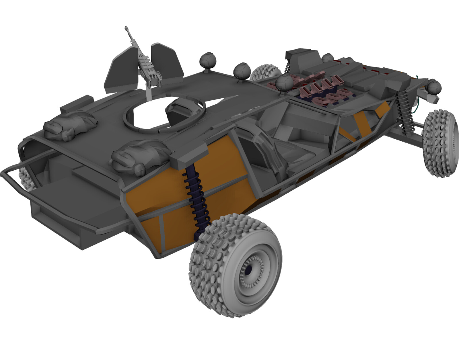 Postapocalyptic Buggy 3d Model 3d Cad Browser