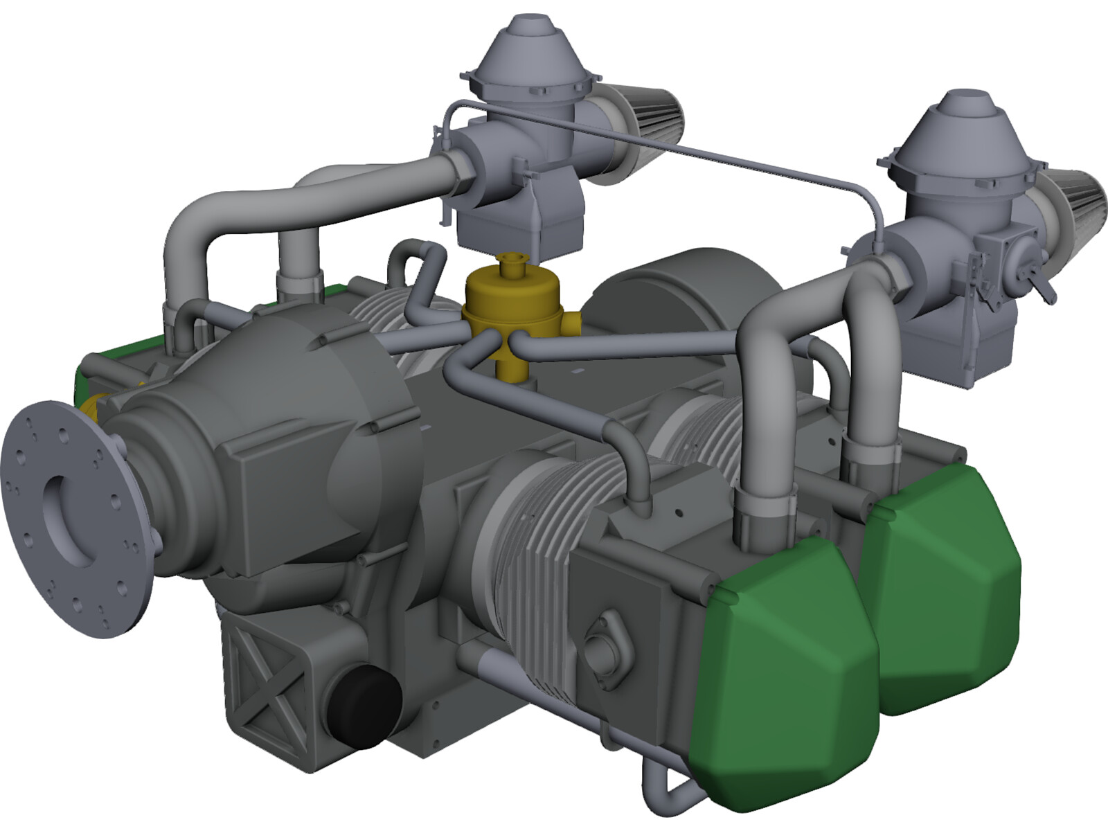 Rotax 912 Engine 3D CAD Model