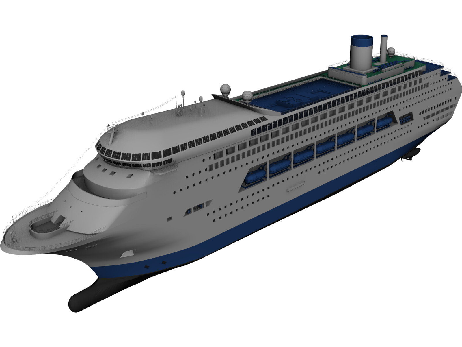 Cruise Ship 3D Model  3D CAD Browser