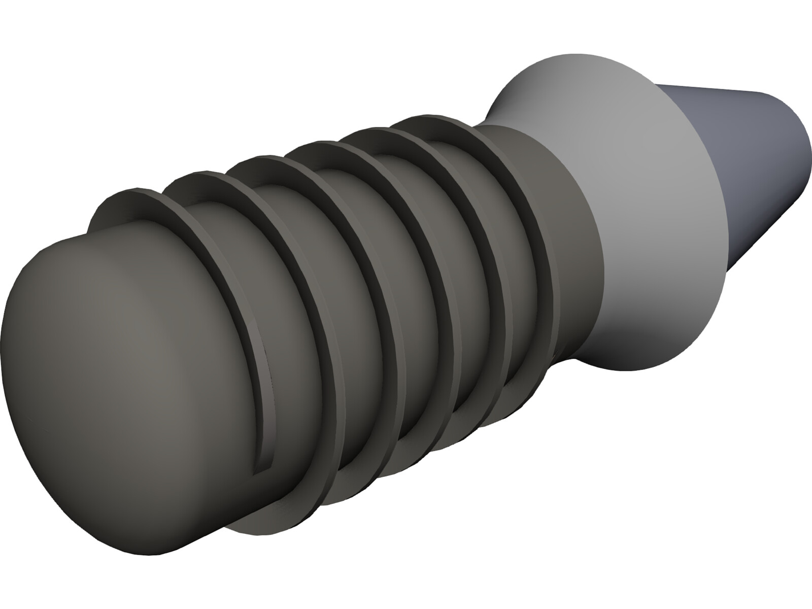 Dental Implant with Abutement 3D CAD Model