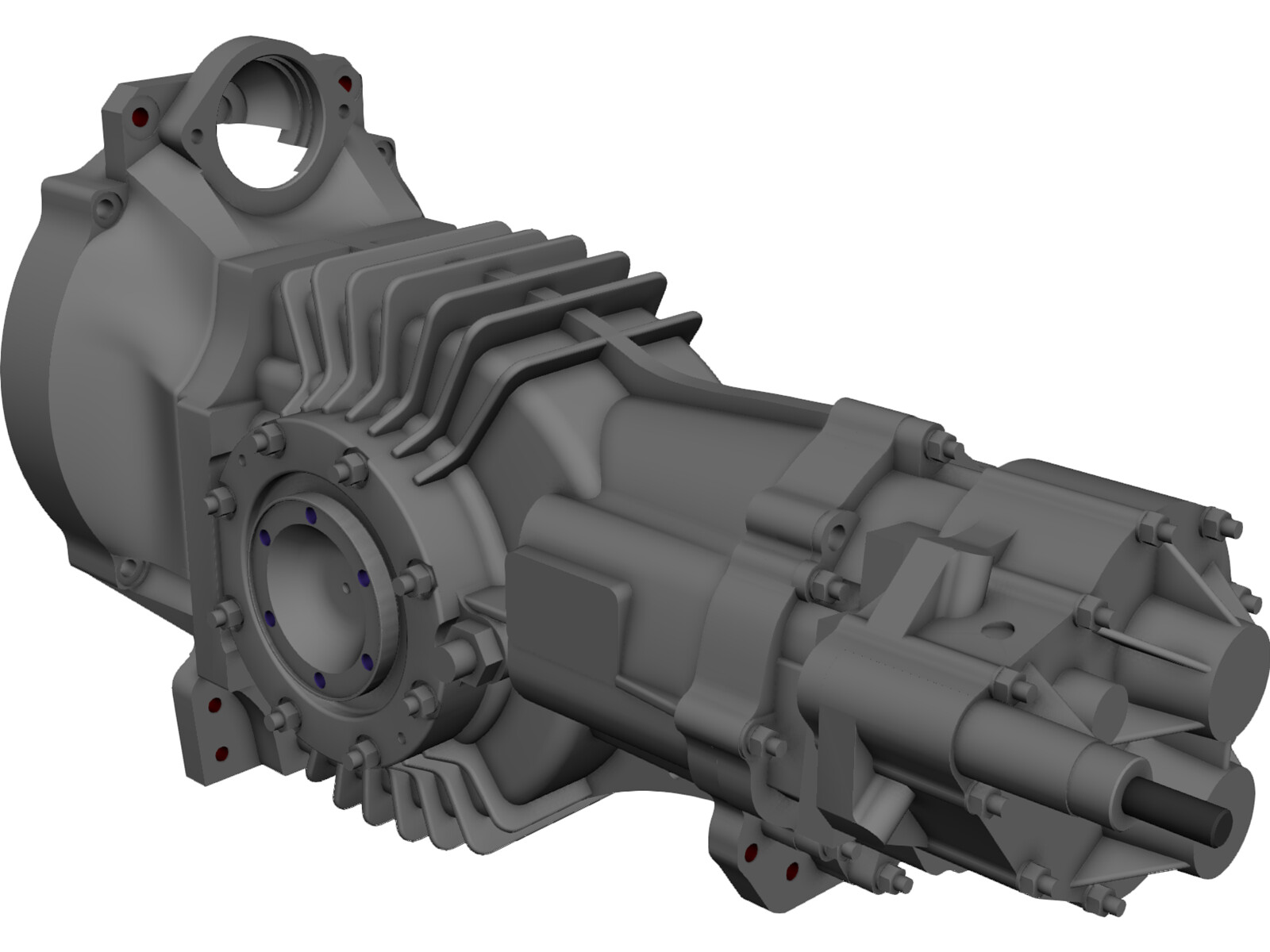 Mendeola MD5 Gearbox 3D CAD Model
