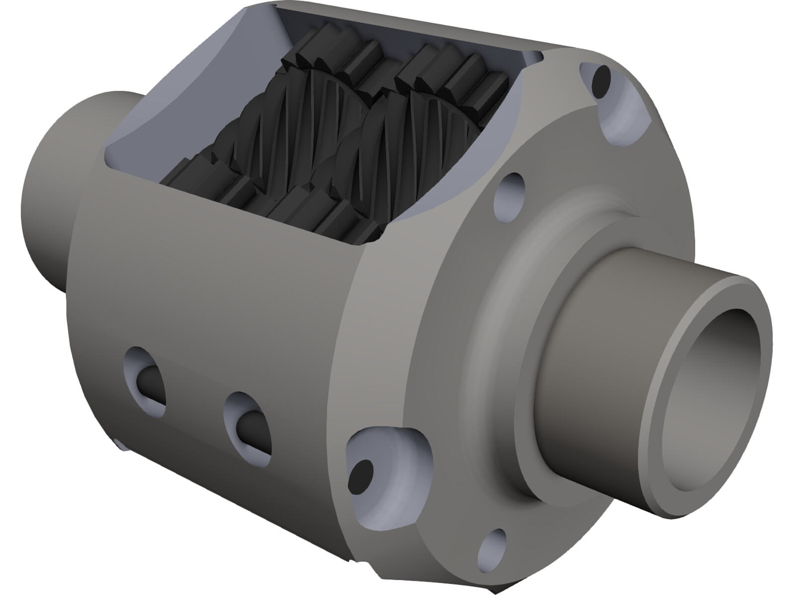 TORSEN Differential 3D CAD Model