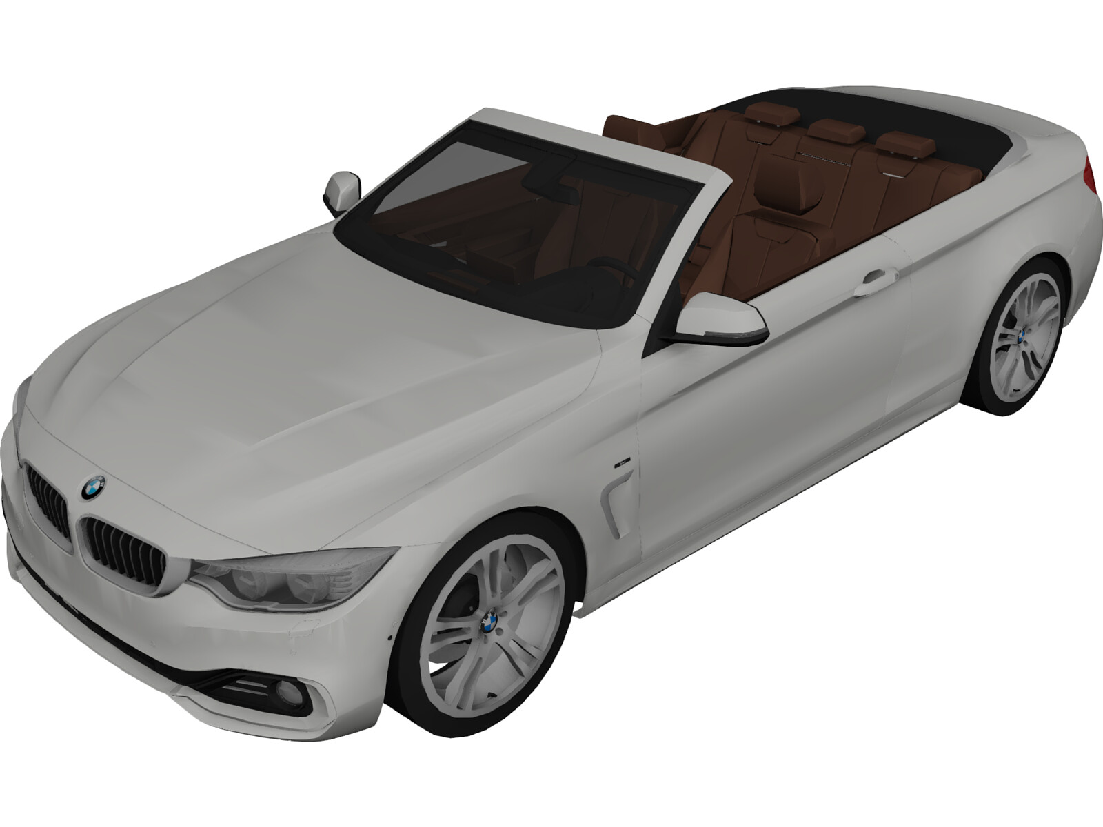 BMW 4-Series 435i Convertible [F32] (2014) 3D Model