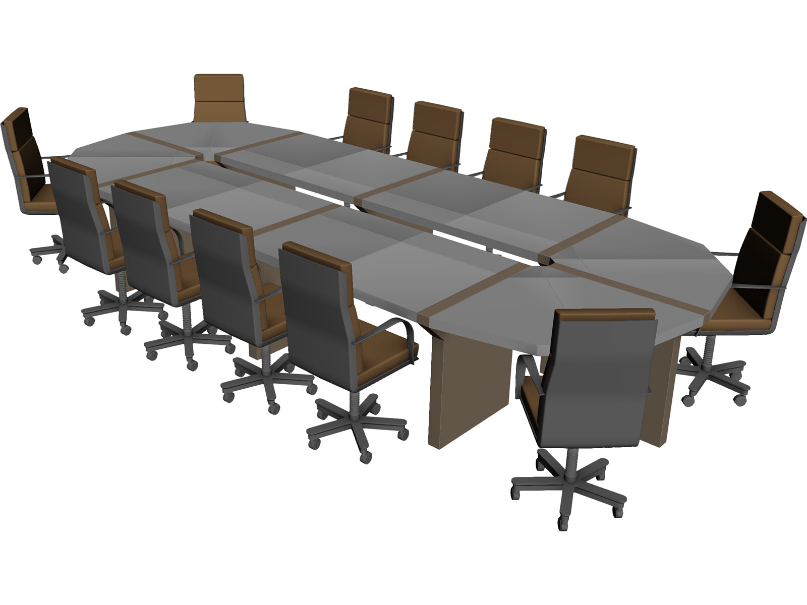 conference table 3d model 3d cad browser. Black Bedroom Furniture Sets. Home Design Ideas