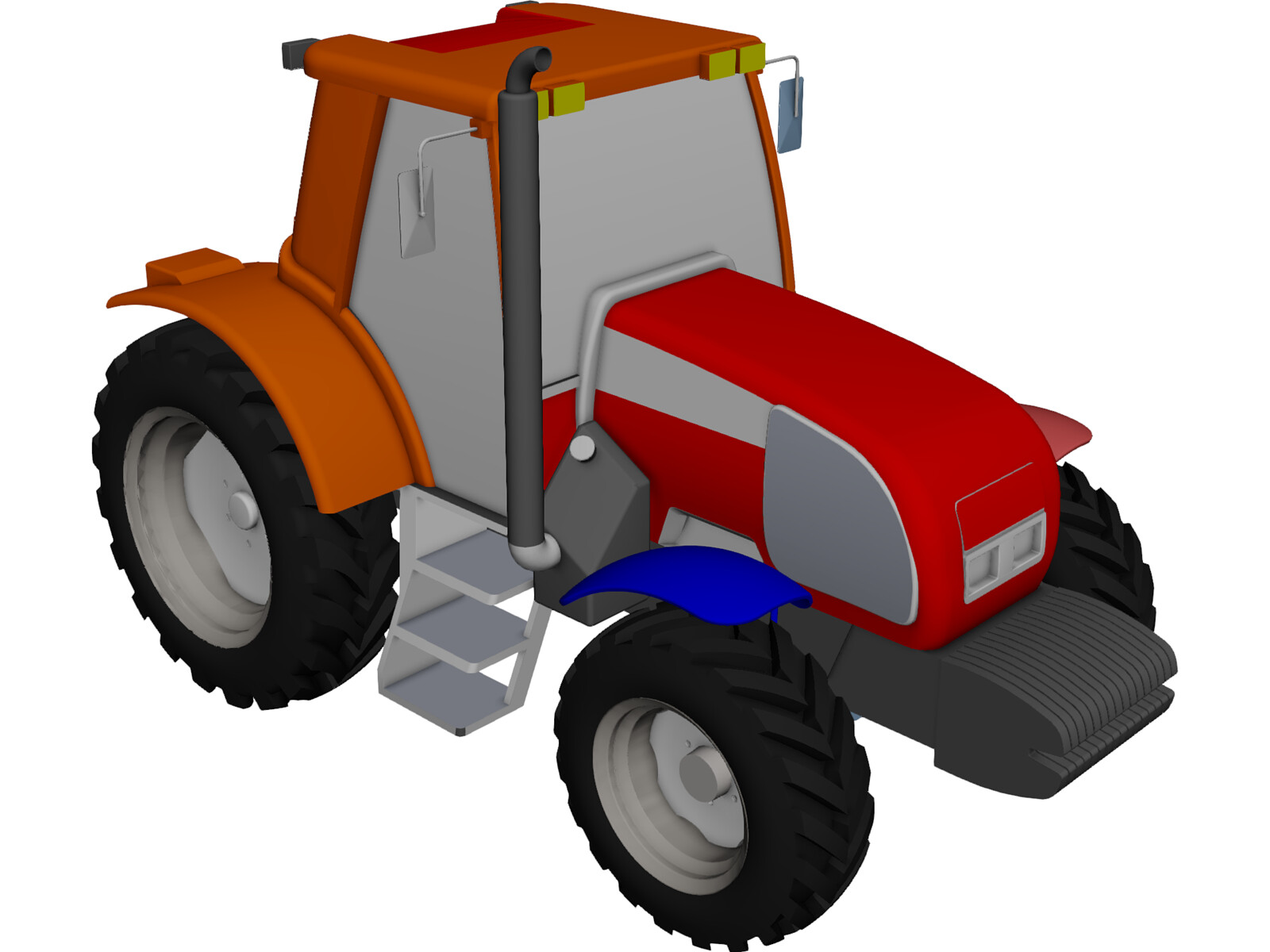 New Holland Tractor 3D Model