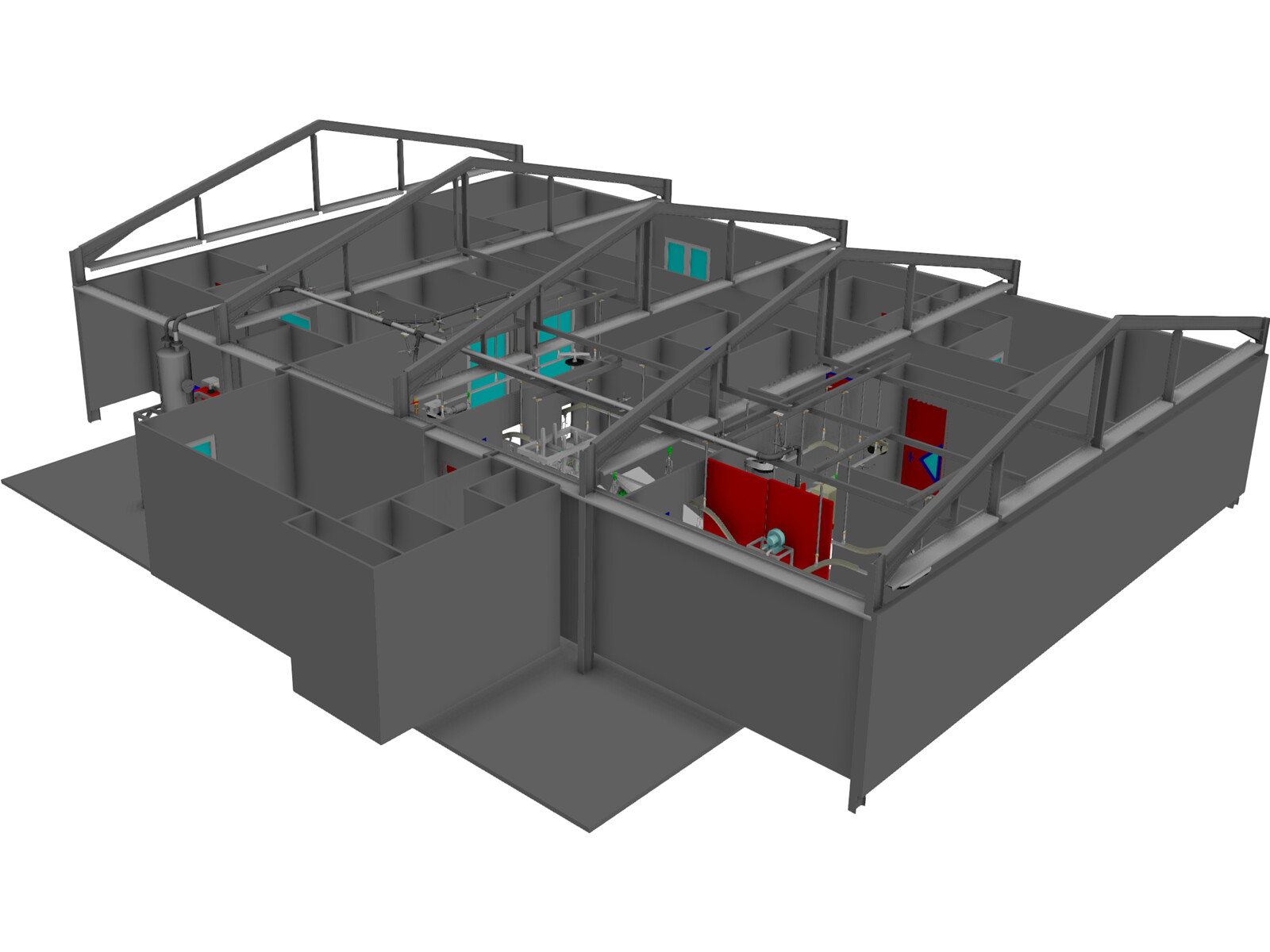 Slaughter house for chickens 3d model 3d cad browser slaughter house for chickens 3d model ccuart Gallery