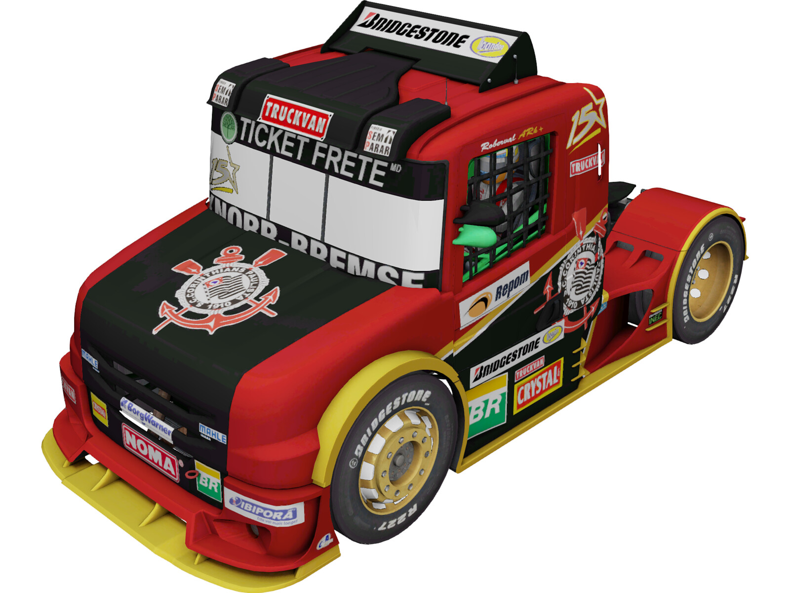 Scania G470 Ticket Car Corinthians Motorsport 3D Model