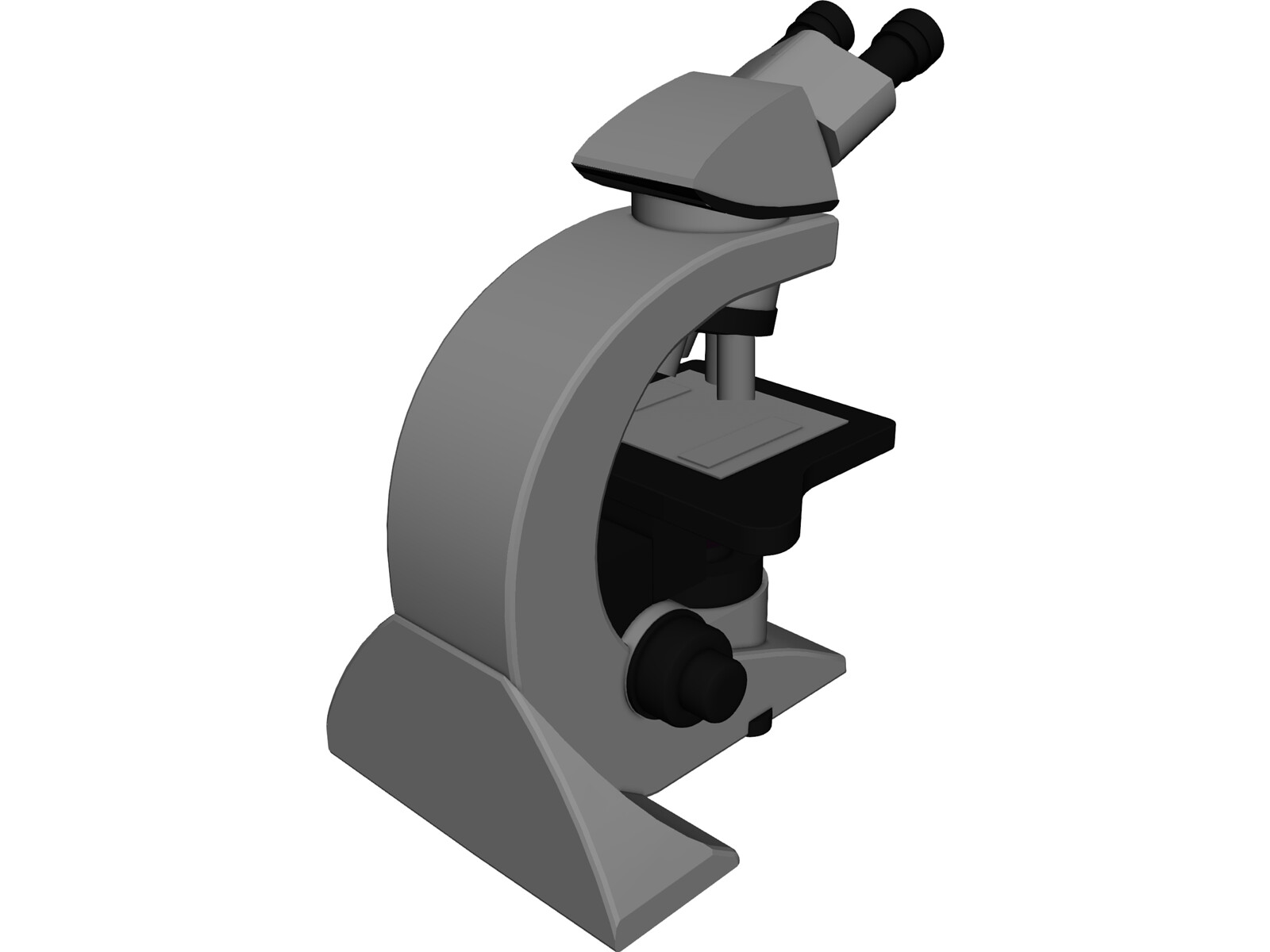 Leica Optical Microscope 3D Model