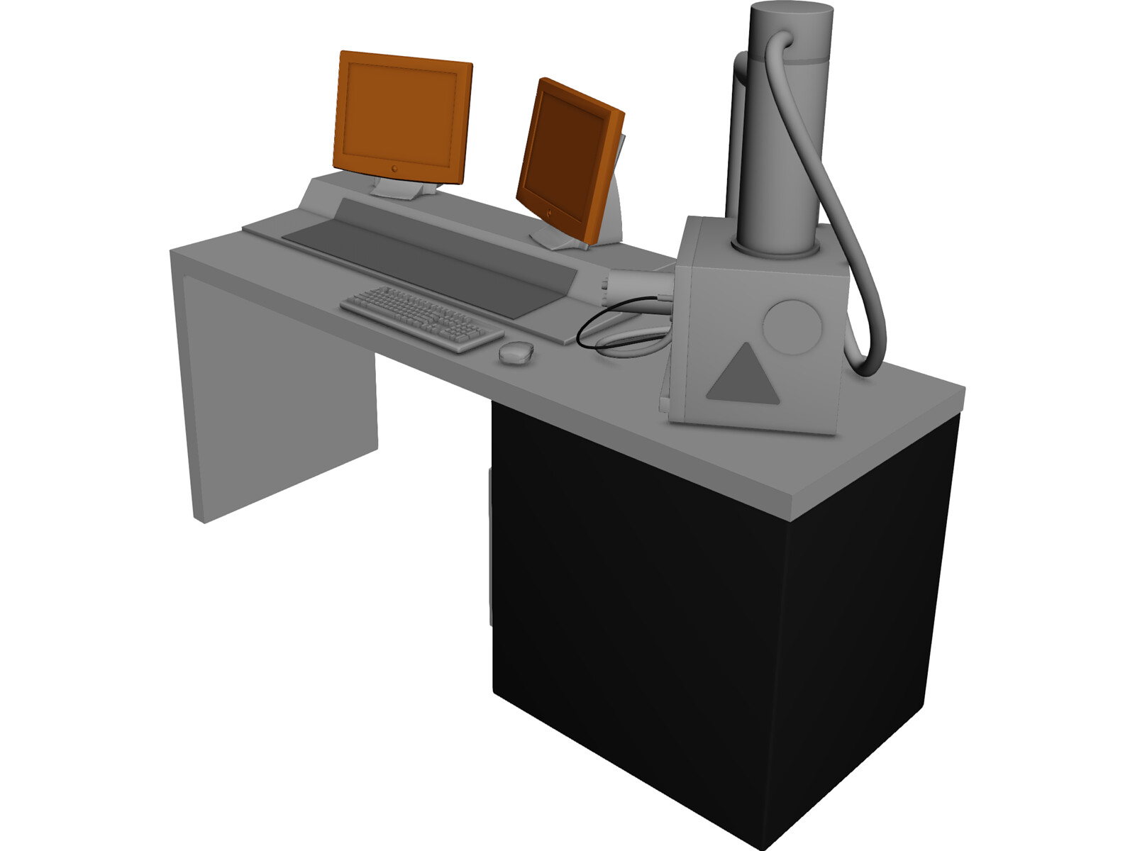 Scanning Electron Microscope 3D Model