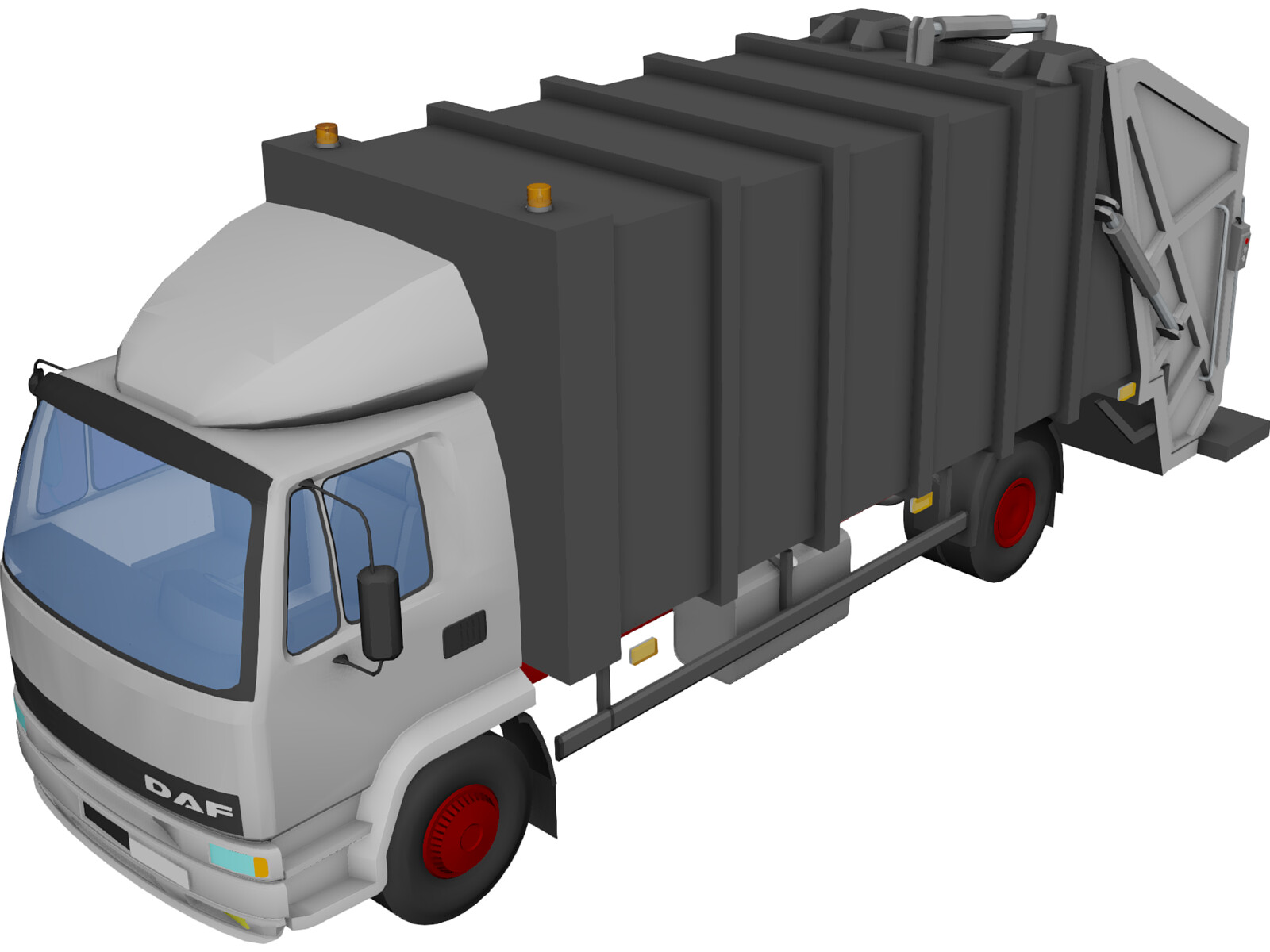 DAF 4X2 Trash Truck 3D Model