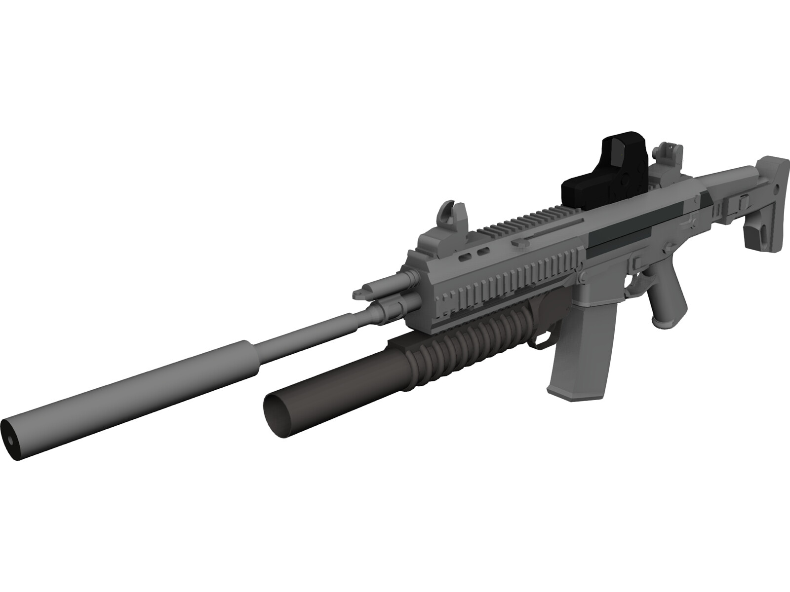 ACR SV with Granade Launcher 3D Model