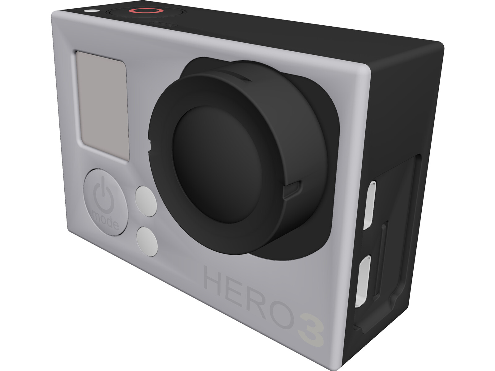 GoPro Hero 3 3D CAD Model