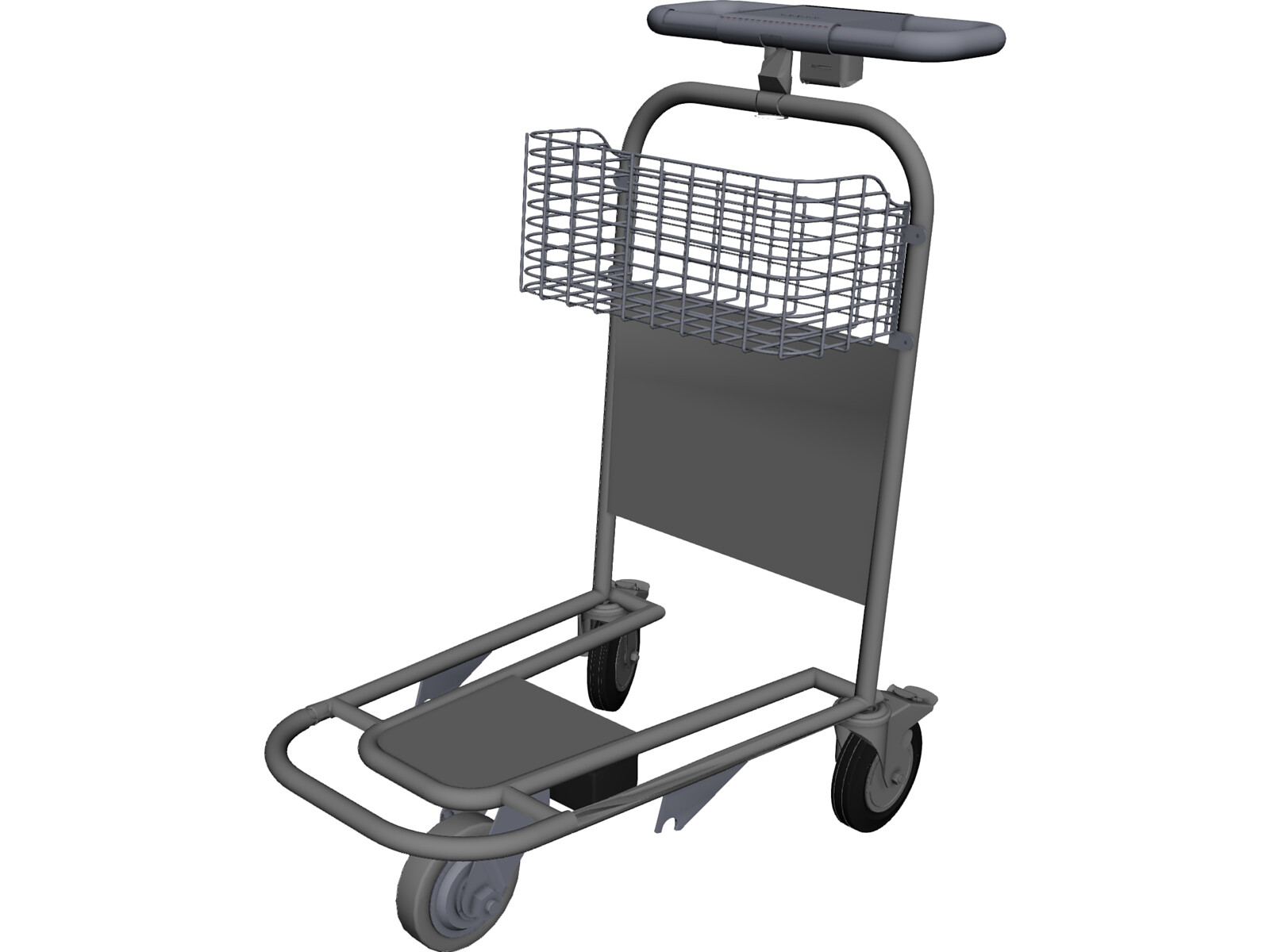 Airport Trolley 3D CAD Model