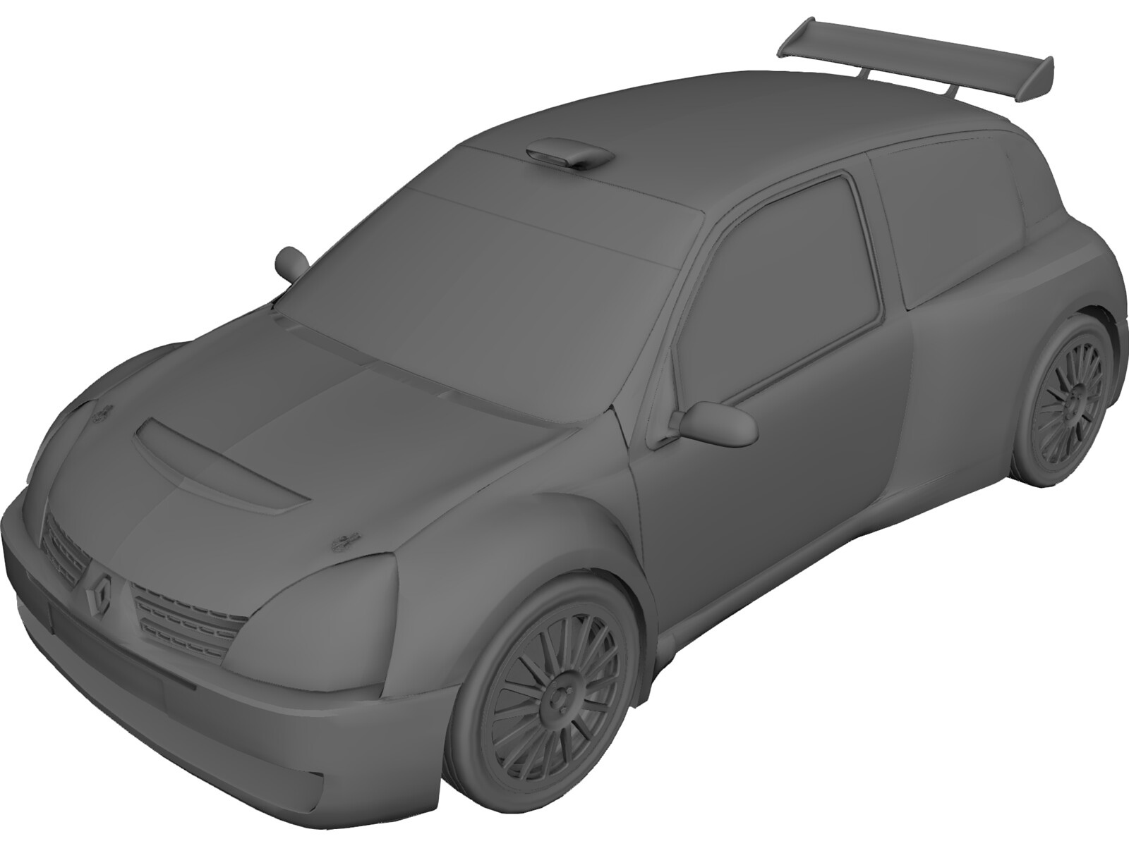 Renault Clio S1600 Rally Car 3D Model