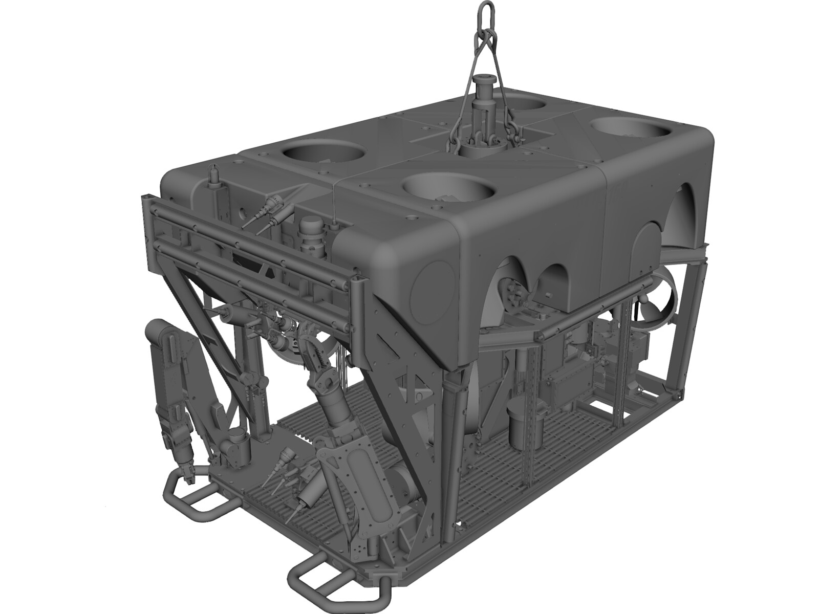 Triton XLS150 ROV 3D CAD Model