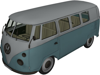 Volkswagen Combi (1971) 3D Model 3D Preview