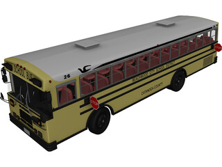 School Bus 3D Model 3D Preview