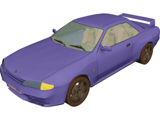 Nissan Skyline GTR (1995) 3D Model 3D Preview