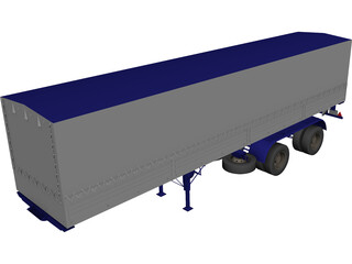Renault Magnum Semi Trailer 3D Model