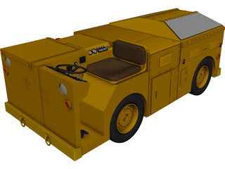 US Navy NAS Deck Service Tractor 3D Model 3D Preview