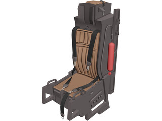 F-15 Seat 3D Model 3D Preview
