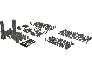 City Buildings Set 3D Model