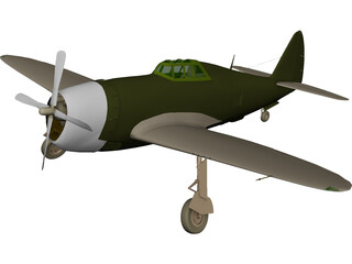Republic P-47 Thunderbolt Greenhouse Canopy 3D Model