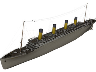 Titanic R.M.S 3D Model 3D Preview