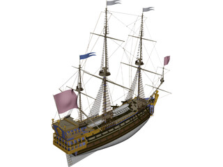 La Sirene Ship Of Line 3D Model