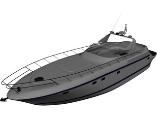 Sarnico 58 Yacht 3D Model 3D Preview
