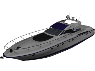 Sarnico 65 Yacht 3D Model 3D Preview