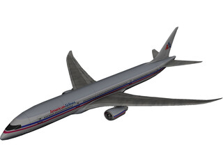 Boeing 787 American Airlines 3D Model