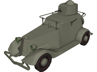 BA-20 Russian Armoured Car 3D Model