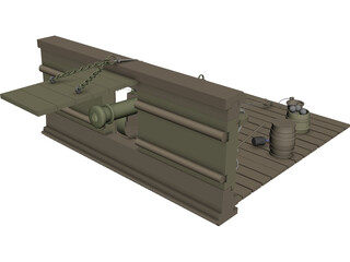 British Naval Cannon (12 lb) 3D Model