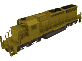 EMD SD40 SantaFe 3D Model 3D Preview